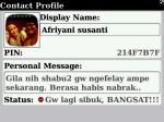 status bbm Afriyani Susanti